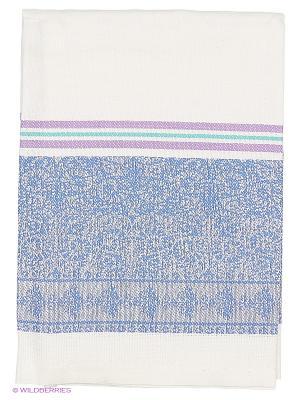 Полотенце лен Метиз. Цвет: синий, белый