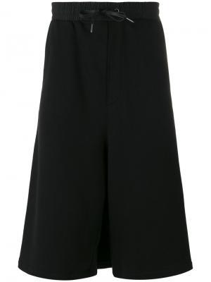 Layered oversized track shorts D.Gnak. Цвет: чёрный