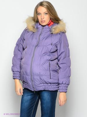 Куртка EUROMAMA. Цвет: фиолетовый