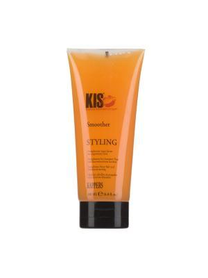 Кератиновый разглаживающий блеск-бальзам Smoother для дисциплины волос, 200 мл KIS. Цвет: светло-оранжевый