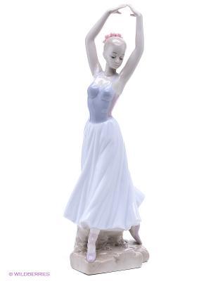 Статуэтка Балерина (Pavone) Pavone. Цвет: белый, голубой, бежевый