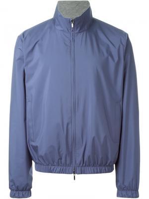 Двухсторонняя куртка на молнии Loro Piana. Цвет: синий
