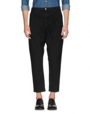 Повседневные брюки AGLINI. Цвет: черный