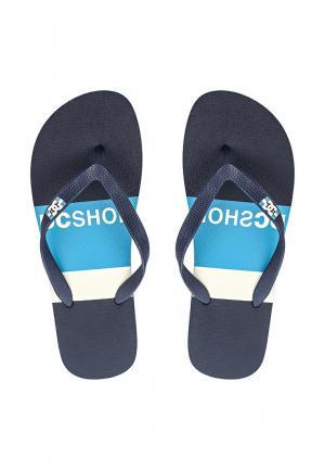 Сланцы DC Shoes. Цвет: синий