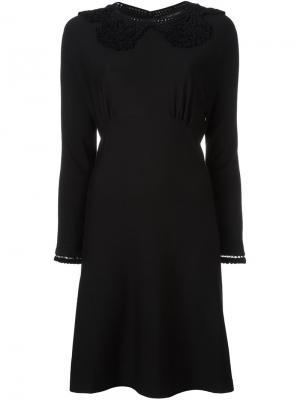 Платье с ажурным воротником Marc Jacobs. Цвет: чёрный