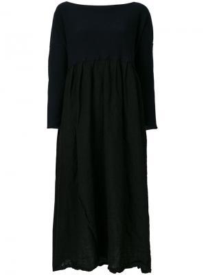 Платье-свитер миди Daniela Gregis. Цвет: чёрный