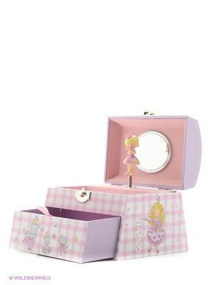 Музыкальная шкатулка с фигуркой в форме купола Jakos. Цвет: фиолетовый, розовый, белый