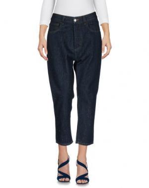 Джинсовые брюки TAKUTEA. Цвет: синий