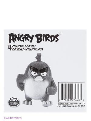 Игрушка Angry Birds набор из 4 сердитых птичек SPIN MASTER. Цвет: белый, черный