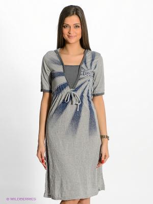 Платье Timezone. Цвет: серый