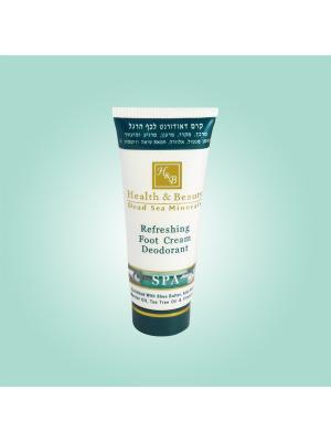 Крем-дезодорант для ног Health & Beauty с охлaждающим эффектом, 100мл. Цвет: белый