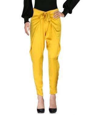 Повседневные брюки INTROPIA. Цвет: желтый