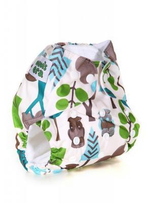 Многоразовый подгузник Mum`s Era. Цвет: кремовый, бирюзовый, зеленый, коричневый, синий