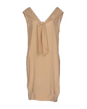 Короткое платье APPARTAMENTO 50. Цвет: песочный