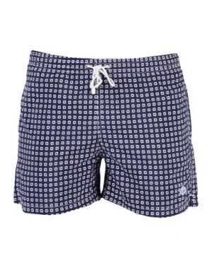 Пляжные брюки и шорты LUIGI BORRELLI NAPOLI. Цвет: темно-синий