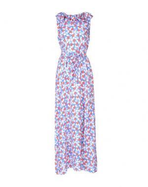Длинное платье MSGM. Цвет: лазурный