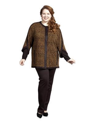 Жакет Queen Size. Цвет: коричневый
