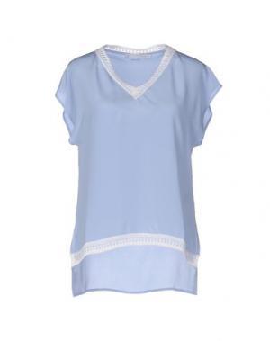 Блузка SILK AND CASHMERE. Цвет: небесно-голубой