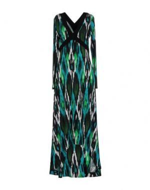 Длинное платье MICHAEL KORS. Цвет: бирюзовый