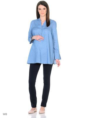 Рубашка week by. Цвет: серо-голубой