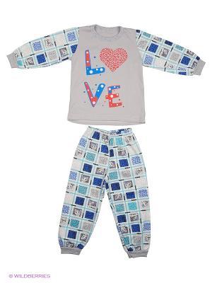 Пижама Babycollection. Цвет: серый, синий