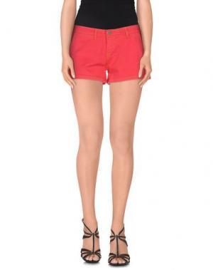 Джинсовые шорты VINTAGE 55. Цвет: красный