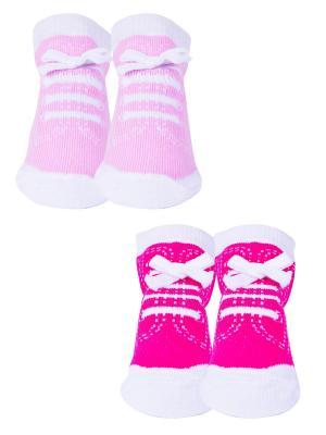 Носки, 2 пары Malerba. Цвет: розовый