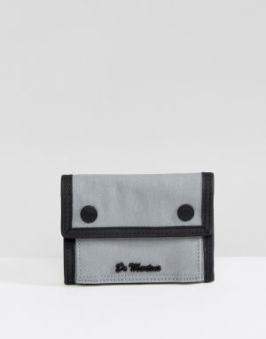 Dr Martens Серый кошелек в стиле милитари. Цвет: серый