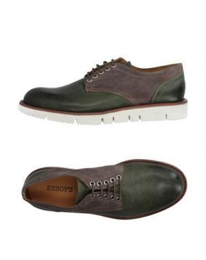 Обувь на шнурках SEBOY'S. Цвет: изумрудно-зеленый