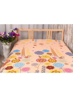 Одеяло-покрывало Льняное 2,0 ARKADY. Цвет: светло-желтый, кремовый