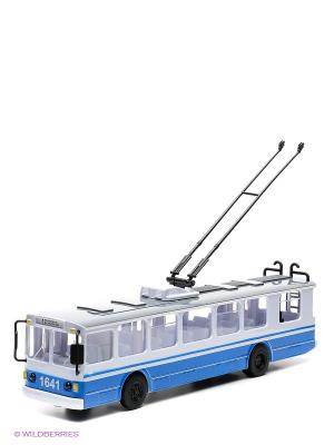 Троллейбус Технопарк. Цвет: белый, голубой