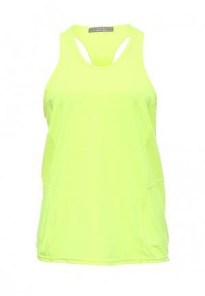 Майка спортивная Gym & Soul. Цвет: желтый