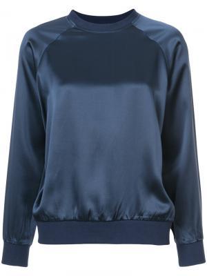 Блузка с длинными рукавами 6397. Цвет: синий