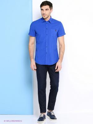 Рубашка Trussardi. Цвет: светло-голубой