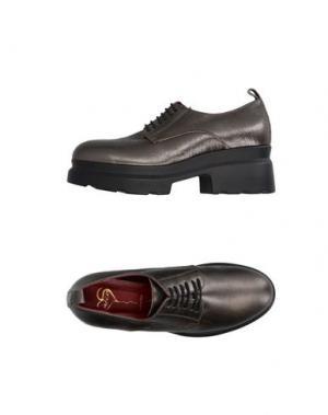 Обувь на шнурках HÉCOS. Цвет: свинцово-серый