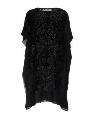 Короткое платье FUZZI. Цвет: черный