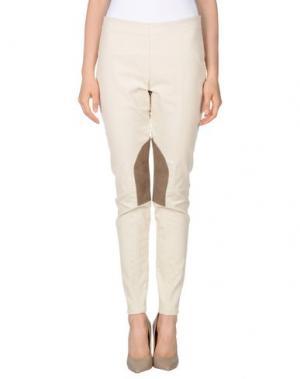 Повседневные брюки FEMÌ. Цвет: слоновая кость