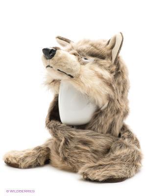 Шапка True Fur. Цвет: светло-бежевый, молочный, светло-серый