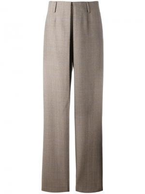 Прямые брюки Aalto. Цвет: коричневый