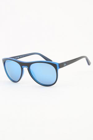 Очки солнцезащитные Lacoste. Цвет: синий