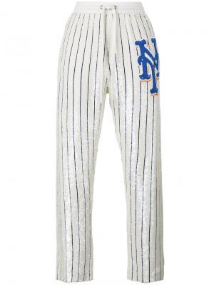 Спортивные брюки с пайетками Ashish. Цвет: телесный
