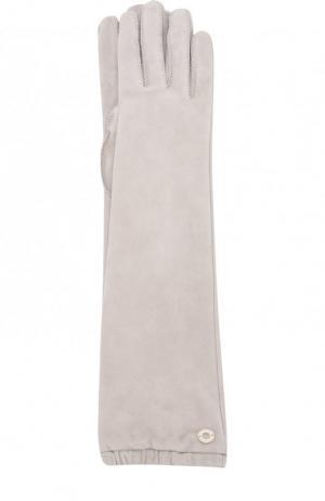 Удлиненные перчатки Mischa из кожи и замши Loro Piana. Цвет: светло-бежевый