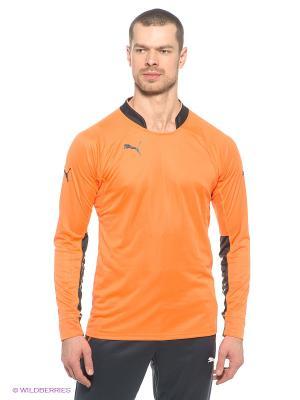 Лонгслив GK Shirt Puma. Цвет: оранжевый