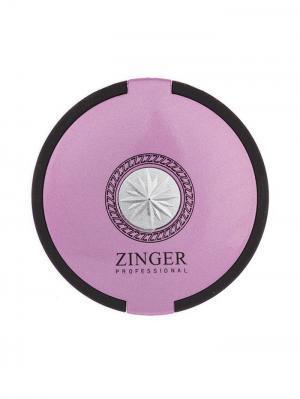 Зеркало  компактное; круглое Zinger. Цвет: черный, розовый