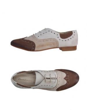 Обувь на шнурках ALBERTO BRESSAN. Цвет: бежевый