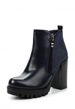 Ботильоны Ideal Shoes. Цвет: синий
