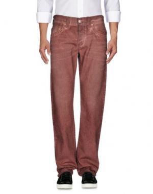 Джинсовые брюки TRUE RELIGION. Цвет: пастельно-розовый