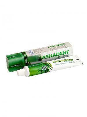 Зубная паста Ним и Бабул Aasha Herbals. Цвет: светло-зеленый