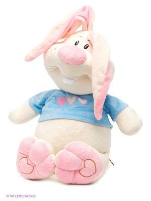 Заяц Ушастик Fancy. Цвет: молочный, голубой, розовый