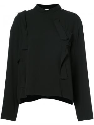 Блузка с пуговицами Toga. Цвет: чёрный
